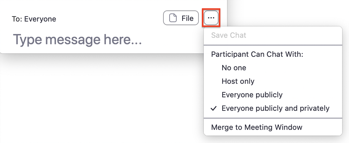 Image: Chat panel and ellipses (…)